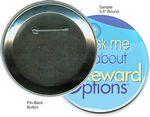 Custom Custom Buttons - 3 1/2 Inch Round, Pin-Back