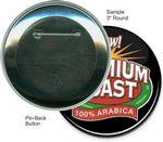 Custom Custom Buttons - 3 Inch Round, Pin-back