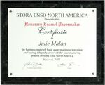 Custom Keystone Black Marbleized Certificate Holder Kit - 8.5