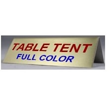 "Table Tent 8""wx4""h"