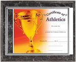 Custom Black Marbleized Certificate Holder 6