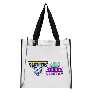 Clear Stadium Open Tote Bag