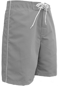 Mens Side Piping Board Short - Gray
