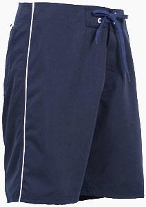 Mens Side Piping Board Short - Navy Blue