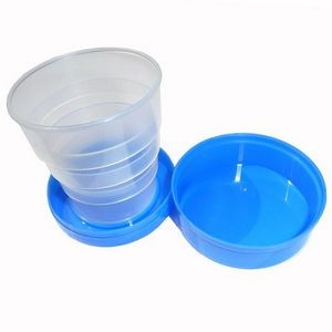 4 Folding 130ml (4.4oz) Convenient Plastic Collapsible Cups