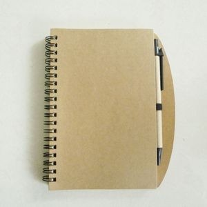Double Coil Kraft Cover Notebook w/ Pen