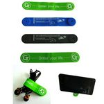Custom Multifunctional Magnetic Silicone clip Cable Tie Smartphone Stand