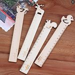 Custom Animal Decoration Wooden Ruler 1''x8''