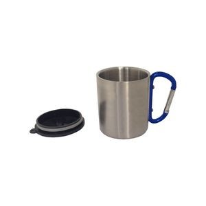 7.5 oz SS Double Wall Insulated Mug with Cap and Carabiner