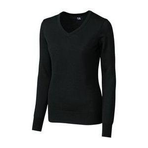 Ladies' Cutter & Buck® Douglas V Neck Sweater