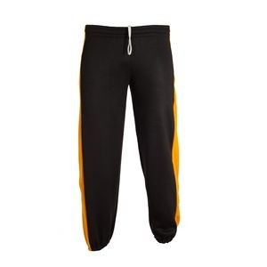 Sweatpants with side inserts and pockets