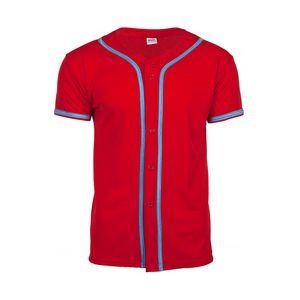 MVPDri Full Button Front Jersey Shirt with Piping
