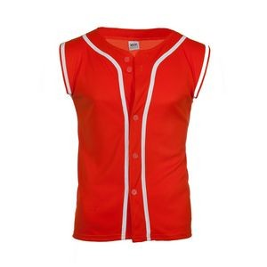 MVPDri Sleeveless Baseball Jersey Shirt w/ Piping