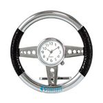 Custom Metal Desktop Steering Wheel Clock