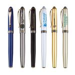 Custom Metal Cap Off Rollerball Pen w/ Matte Coated Finish