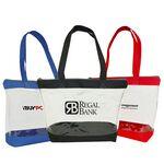 Custom Poly Clear Zipper Shopping Tote Bag