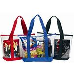 Custom Stadium PVC Clear Zipper Tote Bag