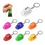 Custom Plastic Construction Hat Bottle Opener Keychain