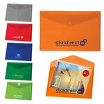 Custom Translucent Snap Close Document Folder
