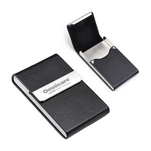 Custom imprinted business card cases with your logo mprinted executive business card holder colourmoves
