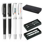Custom Rollerball and Ballpoint Pen Gift Set