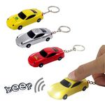 Custom Miniature plastic toy sports car LED light keychain