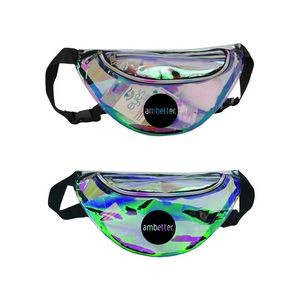 Clear Vinyl Holographic Fanny Pack