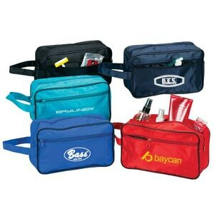 Poly PVC Backing Toiletry Travel Bag