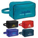 Custom Poly PVC Backing Toiletry Travel Bag