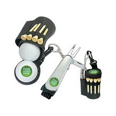 Multi-Tool And Nylon Brush Golf Tee Ball Bag