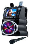 Custom Karaoke System with 7-Inch Color TV, Bluetooth, Led Lights and Record Function