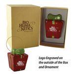 Custom Gift Box 3D Ceramic Ornament