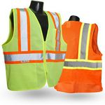 Custom Radians Economy Two Tone Vest w/ Zipper Closure