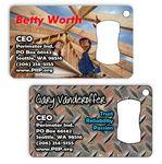 Custom Metal Business Card Bottle Opener