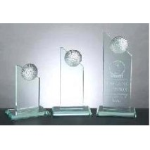 Jade Crystal Golf Pinnacle Award - Large