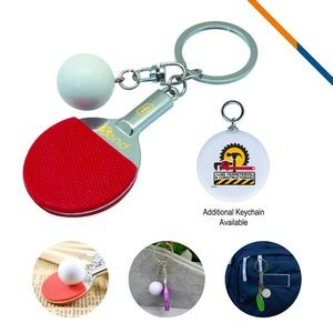 Table Tennis Keychain-Red