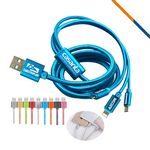 Custom Rugger 3in1 Charging Cable- Blue