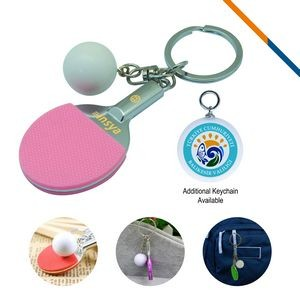 Table Tennis Keychain-Pink