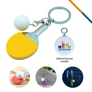 Table Tennis Keychain-Yellow