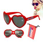 Custom Love Sunglasses Red