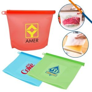 Aqua Silicone Food Bag