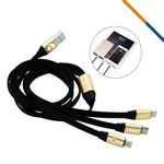 Custom Remington 3in1 Charging Cable-Gold