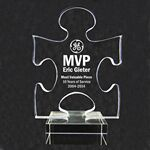 Custom Acrylic and Crystal Engraved Award -