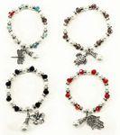 Custom Beaded Charm Bracelet with Pearls - Christian