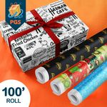 Custom Personalized Gift Wrap - 100' Roll