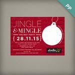 Custom Jingle & Mingle Corporate Holiday Party Invitations
