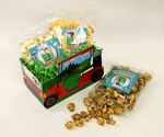 Custom Small Golf Cart Basket with 3 Bags of Gourmet Popcorn
