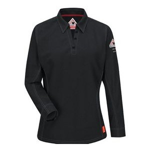 Bulwark® iQ Series® Comfort Knit Women's Polo Shirt w/ 4 Button Placket