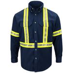 Custom Bulwark Fire Resistant Long Sleeve Shirt w/ Reflective Taping