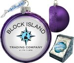 Custom Hand-Blown Glass Ball Christmas Ornament/Exclusive Iridescent Handcrafted Design (6